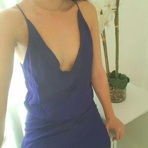 Mason Barneys New York | Silk Size 2 Navy Dress